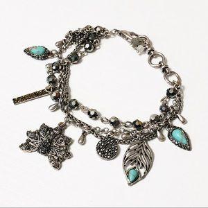 Lucky Brand • Pave Crystal Peacock Bracelet